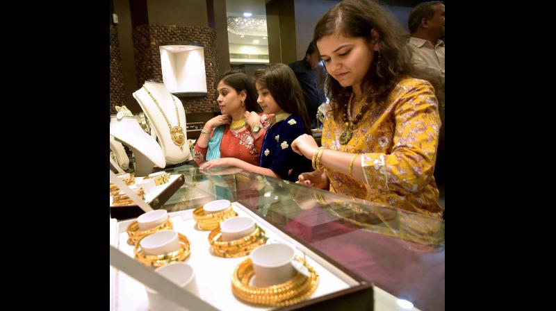 The increase in gold prices helped limit the decline in sales to single digit levels. Representational Image (PTI)