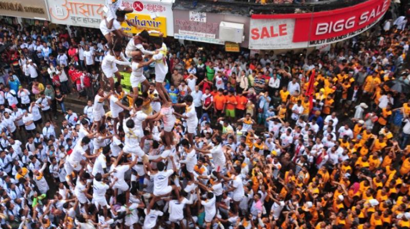 Dahi handi celebrations in Mumbai. (Photo: DC/Debasish Dey)