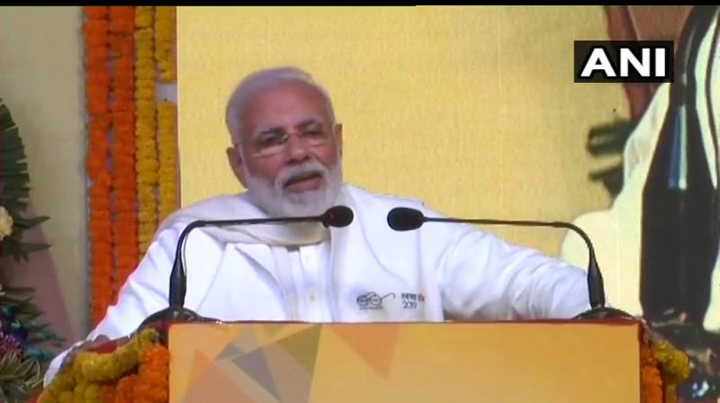PM Modi said, 'those who are part of the 'mahamilavat' are in a competition among themselves to threaten the courts, the CBI and abuse Modi.' (Photo: ANI)