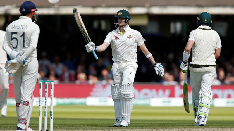 Steve Smith is once again proving to be the only impressionable player for Australia. He brought up his 25th Test fifty off 107 balls. (Photo: AFP)
