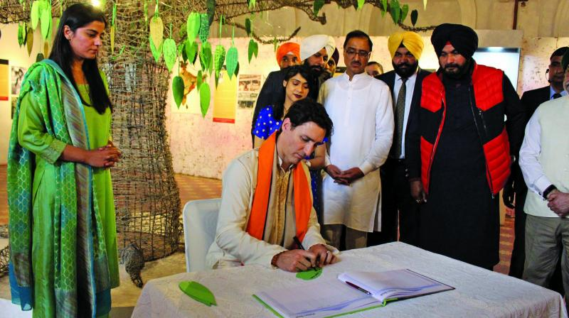 Canada PM Justin Trudeau at the museum in Amritsar last week.