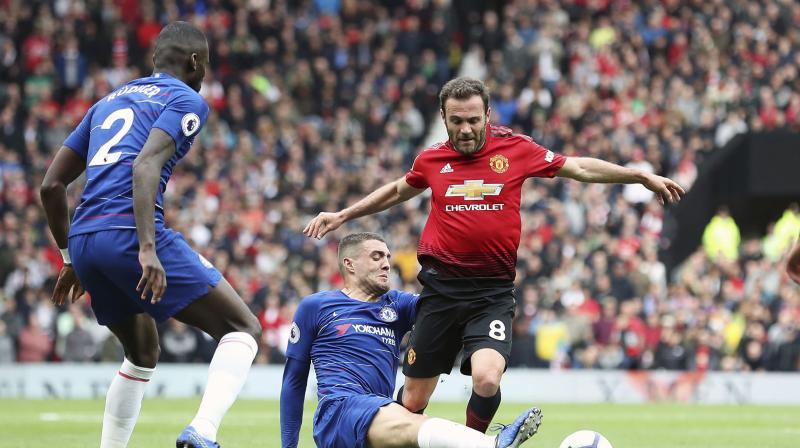 United led through Juan Mata's 11th minute strike but just before halftime the visitors were level when De Gea weakly parried an Antonio Rudiger shot into the path of Marcos Alonso. (Photo: AP)