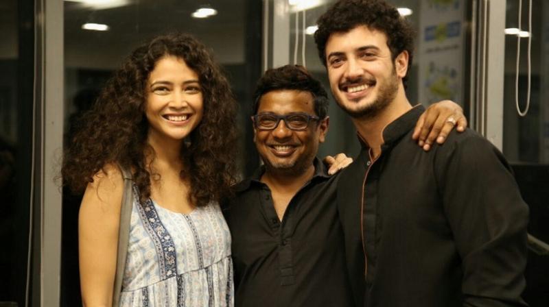 Onir, Zain, Geetanjali during 'Kuchh Bheege Alfaaz' promotions. (Photo: Twitter)