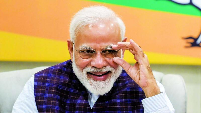 The Prime Minister and a political leader and a prospective candidate in the current general elections to the Lok Sabha, cannot be exhibited.  (Picture: File)