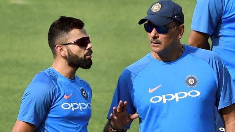 While Shastri is with the Indian team in Sri Lanka for the 2018 Nidahas Trophy T20 tri-series, Kohli has opted for a break. (Photo: PTI)