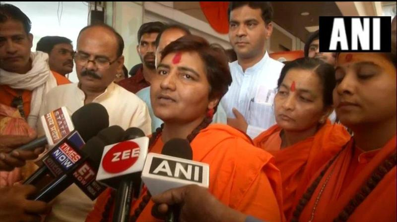 BJP MP Pragya Singh Thakur has approached the Madhya Pradesh police with a demand that they register a case against a Congress MLA who allegedly threatened to