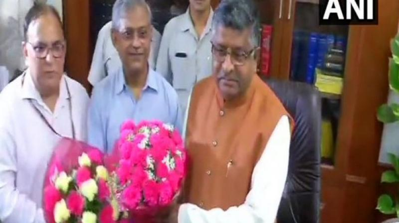 To a question, if the Triple Talaq Bill would be his priority, Prasad said, 'Triple Talaq has been mentioned in our manifesto. Why not?' (Photo: ANI)