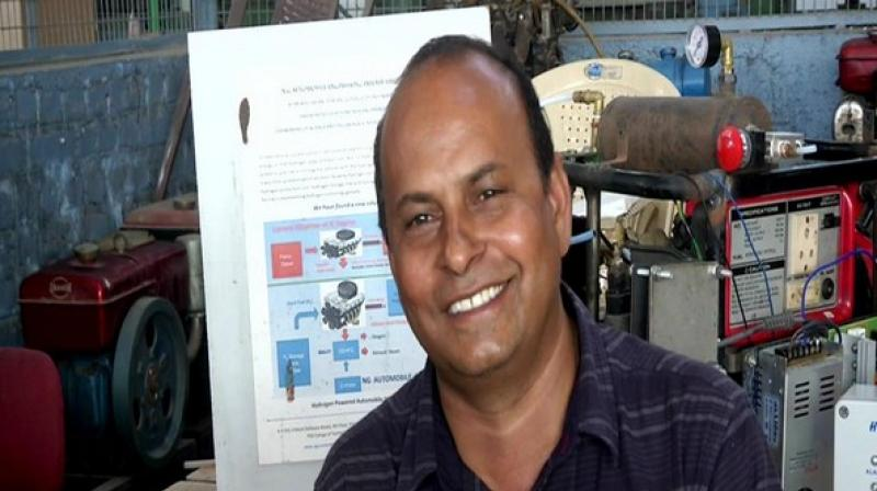 A Coimbatore-based mechanical engineer has claimed to have invented an eco-friendly engine that can run on distilled water. (Photo: ANI)