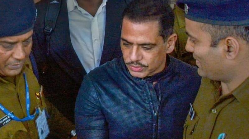Vadra was also questioned by the ED for three consecutive days last week in connection with a probe into allegations of money laundering to purchase assets abroad. (Photo: PTI)