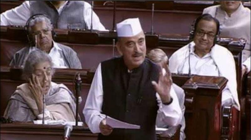 The government is not only polarising the country, but also dividing parties in the opposition and intimidating them by using the CBI and the ED, the senior Congress leader said. (Photo: Rajya Sabha TV)