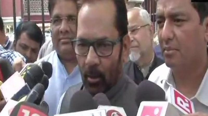 Addressing an election rally in Rampur on April 3, Naqvi had used the phrase 'Modiji ki sena' or Modi's army. (Photo: ANI I File)