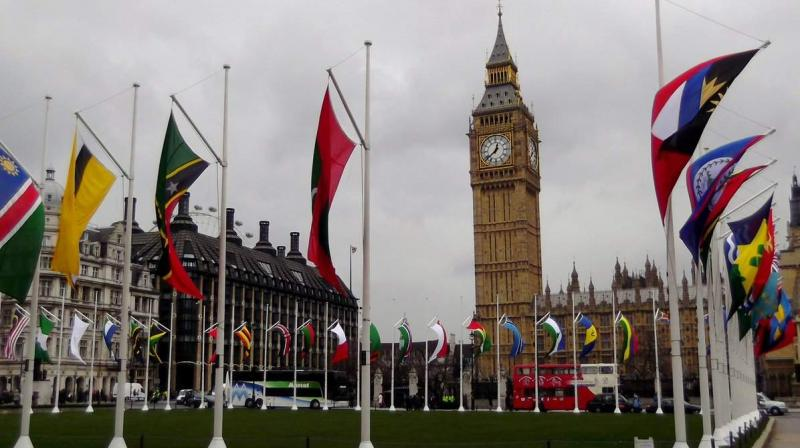 The web portal reported that the UK officials have arranged for a replacement flag to be put up at the Parliament Square. (Photo: ANI | Twitter)