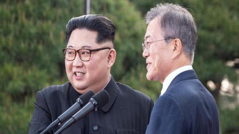 North Korean leader Kim Jong-un, in a statement, said that the two Koreas are one united people who should work together towards reunification. (Photo: ANI)