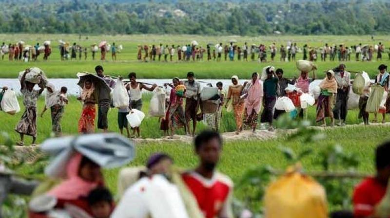 According to the media reports, many Rohingyas are stranded in India and Nepal after moving illegally from Bangladesh. (Photo: ANI)