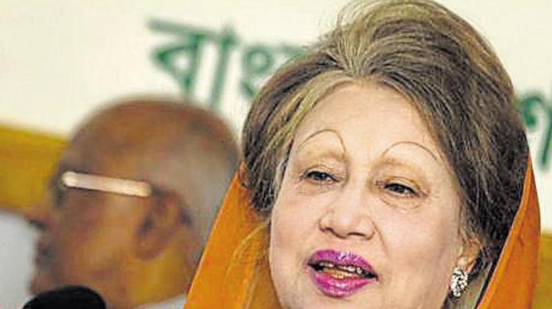 The BNP chief was jailed for five years on February 8 over the embezzlement of 21 million taka (about USD 2,50,000) in foreign donations meant for the Zia Orphanage Trust, named after her husband late Ziaur Rahman, a military ruler-turned-politician. (Photo: AFP)