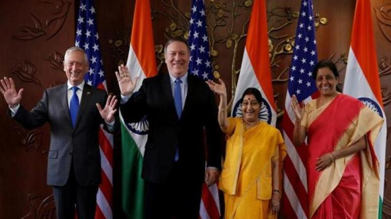 Swaraj also said given strong bilateral ties, India has conveyed to US Secretary Pompeo its expectation that US will not 'act against' interests of Indians while taking a decision on H1B visa issue. (Photo: PTI)