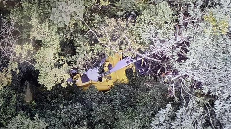 The single-pilot Kathmandu-bound Altitude Air helicopter was carrying six passengers, including a Japanese trekker, when it lost contact with air traffic control after taking off from the central district of Gorkha. (Photo: ANI | Twitter)