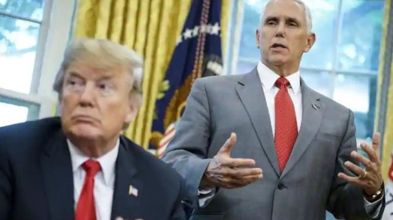 'Let me be very clear. I'm 100 per cent confident that no one on the vice president's staff was involved in this anonymous editorial. I know my people,' Pence said. (Photo: AFP)