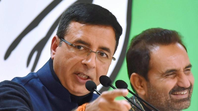 Congress' chief spokesperson Randeep Surjewala cited a media report to attack the prime minister. (Photo: PTI)