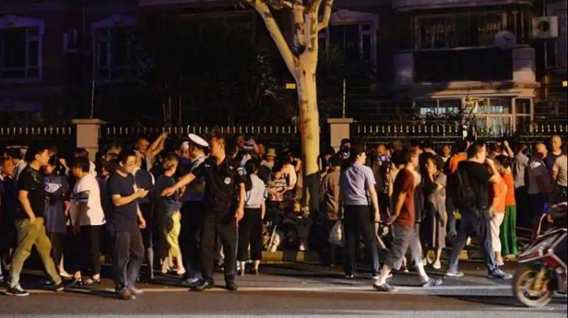 The attack took place as people had gathered in a square by the river in Hengdong county. (Photo: AFP)
