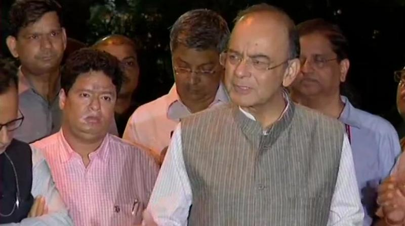 Jaitley also exuded confidence of surpassing the Rs 1 lakh crore target from disinvestment proceeds. (Photo: ANI   Twitter)