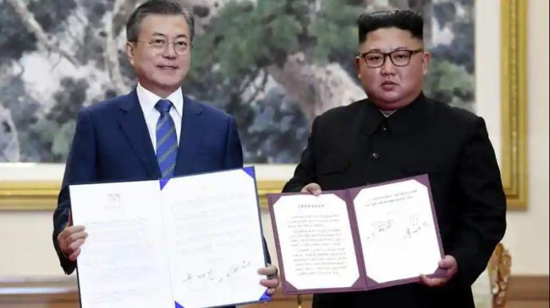 Moon later suggested that the trip was likely to happen this year, and told lawmakers Thursday that the peninsula was approaching 'the historic starting line' for peace. (Photo: AP | File)