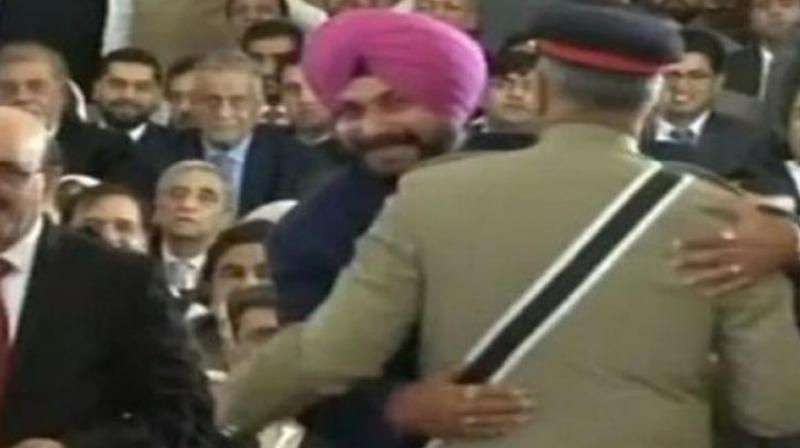 Navjot Singh Sidhu courted controversy by hugging Pakistan Army chief Qamar Javed Bajwa during his visit to Pakistan for the swearing-in of Imran Khan as Prime Minister last month. (Photo: File)