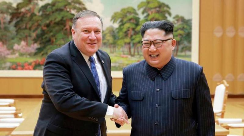 'Chairman Kim said he's ready to allow them to come in' and see the dismantled Punggye-ri nuclear test site, Pompeo said. (Photo: AP)