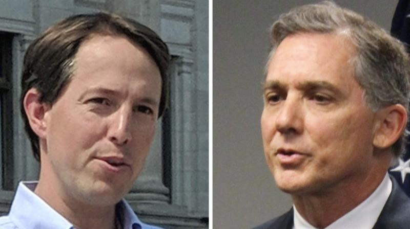 This combination of 2018 file photos shows Arkansas Congressional candidates, Democrat Clarke Tucker, left, and Republican U.S. Rep. French Hill. (Photo : AP)