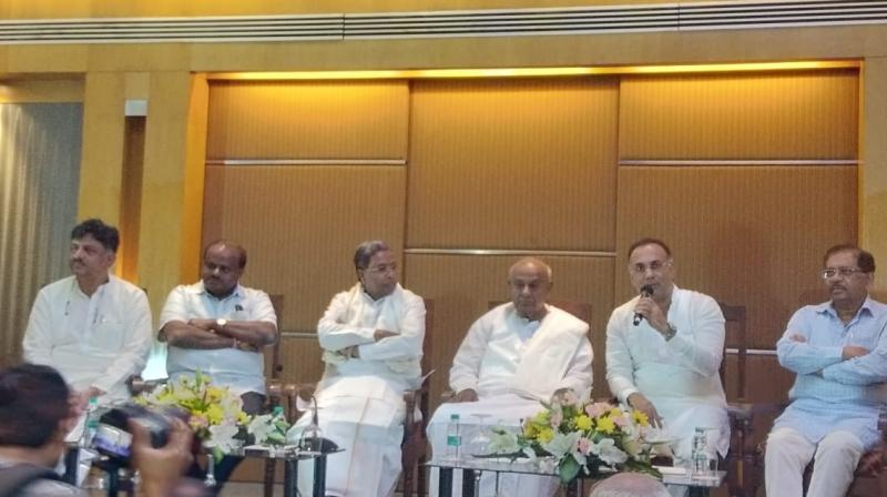Projecting the unity between both the parties ahead of the November 3 bypolls to three Lok Sabha and two assembly se