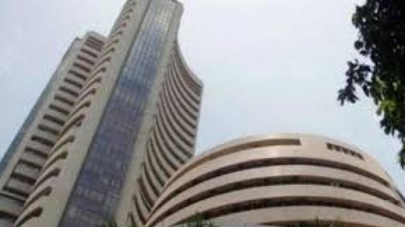 The 30-share Sensex fell 79.13 points, or 0.22 per cent, to close at 35,158.55.