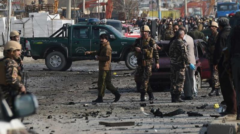 A local official said two car bombs went off near the compound that also houses the provincial headquarters of the national police, border police and Afghan National Army. (Photo: AFP/Representational)