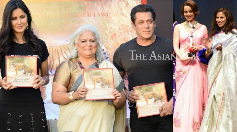 Bollywood actors were snapped at separate book launches in Mumbai on Wednesday. (Photo: Viral Bhayani)