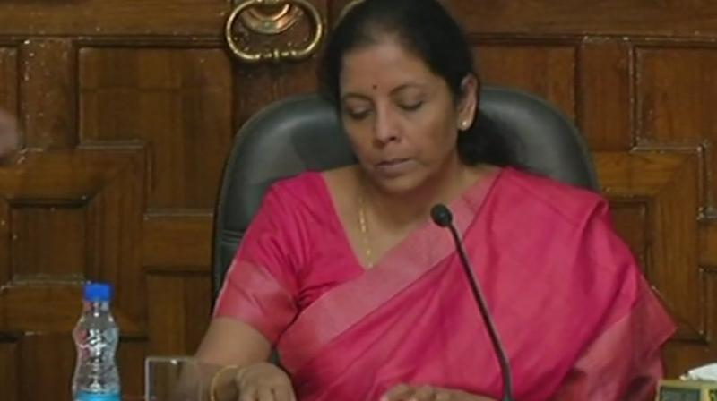 Earlier, Sitharaman awarded the 'Raksha Mantri Padak' and commendation cards to the winning cadets at an investiture ceremony held at the camp. (Photo: ANI | Twitter)