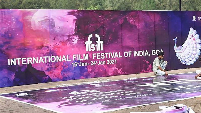 Goa prepares to welcome the 51st International Film Festival of India (IFFI-2021), in Panaji, Friday, Jan. 15, 2021. (PTI)