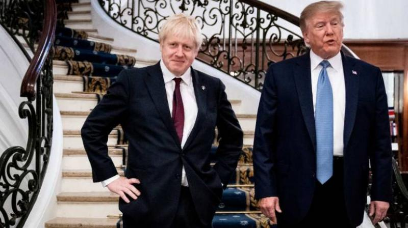 US President Donald Trump has offered British Prime Minister Boris Johnson a boost, saying he's the 'right man' to deliver Brexit. (Photo: PTI)