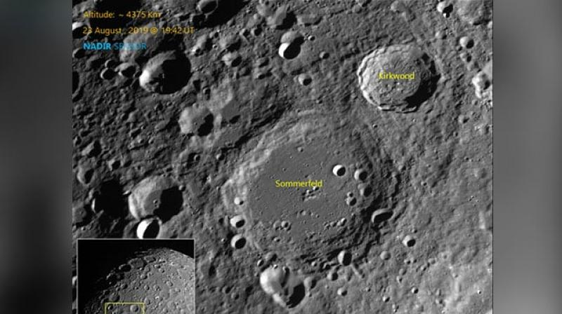 Chandrayaan-2, which is currently orbiting the Moon, has captured some more images of the lunar surface showing several craters, the Indian Space Research Organisation (ISRO) said on Monday. (Photo: isro.gov.in)