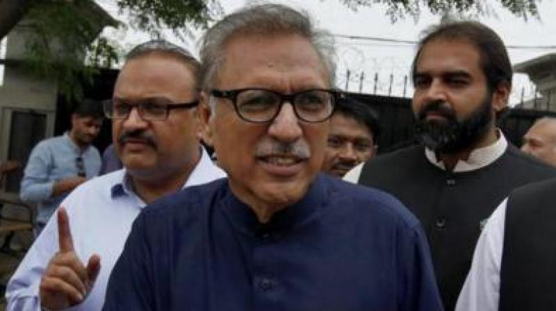 Pakistan President Arif Alvi has received a notice from Twitter over his posts on Jammu and Kashmir, a media report claimed. (Photo: File)