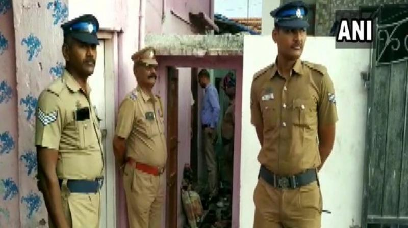 The National Investigation Agency (NIA) on Thursday conducted searches across multiple locations here in connection with a recent terror alert issued to Tamil Nadu. (Photo: ANI)