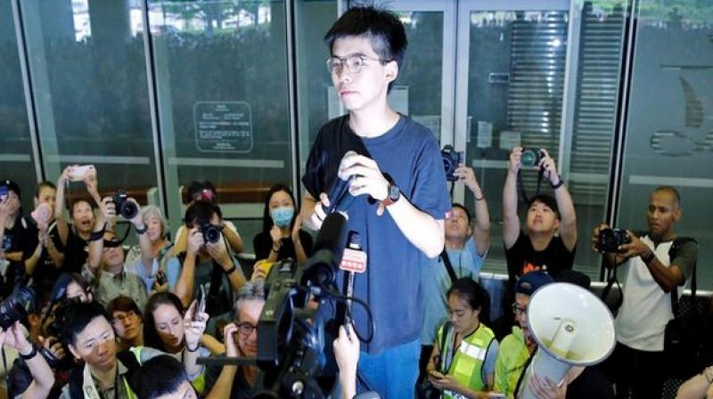 Leading pro-democracy activist Joshua Wong was arrested by Hong Kong police on Friday morning, his political organisation Demosisto said, ahead of another week of planned protests in the semi-autonomous region. (Photo: ANI)