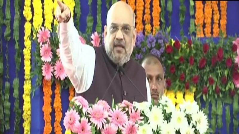 Addressing a poll rally in Rajura seat, Shah said the Congress, NCP and other opposition parties did not end provisions of Article 370 due to vote-bank politics. (Photo: File)