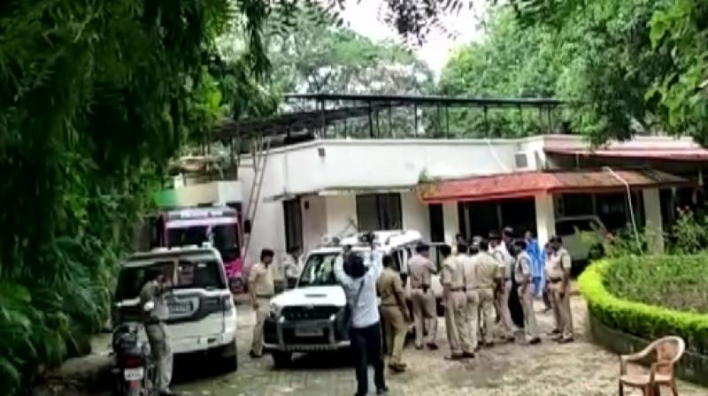 Amit Jogi, the son of the former Chhattisgarh chief minister Ajit Jogi, from his residence in Bilaspur, police said on Tuesday. (Photo: Twitter/ ANI)
