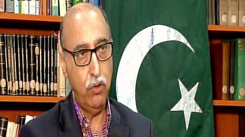 Pakistani High Commissioner to India, Abdul Basit on Monday retweeted a photo of an adult filmstar while passing it off as a Kashmiri man who lost his vision due to pellet injury. (Photo: ANI)