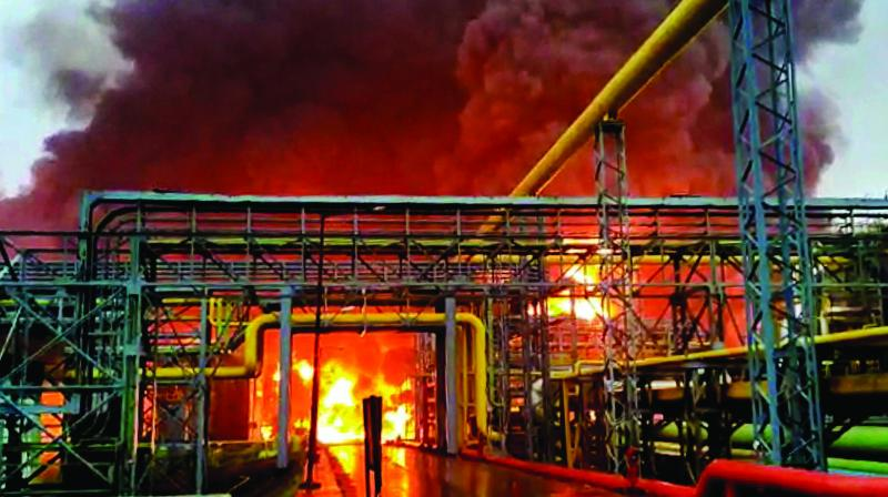 On September 3, three Central Industrial Security Force (CISF) personnel were among four deceased. The men had arrived for inspection at the plant after a leak was reported in the storm-water drainage. However, a sudden explosion killed them on the spot. (Photo: File)
