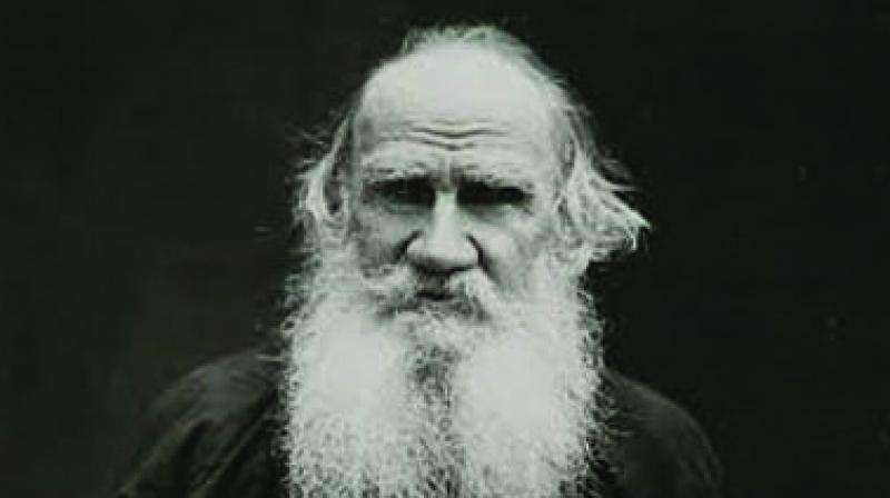Leo Tolstoy, whose War and Peace sparked off a war of words in a courtroom.