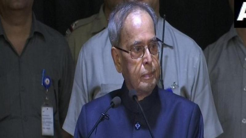 Former President Pranab Mukherjee said here on Thursday that Gross Happiness is no less important than Gross Domestic Product (GDP), and its basic foundation is education. (Photo: File)