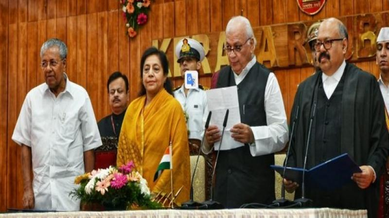 Arif Mohammed Khan on Friday took oath as the new Governor of Kerala. (Photo: ANI)