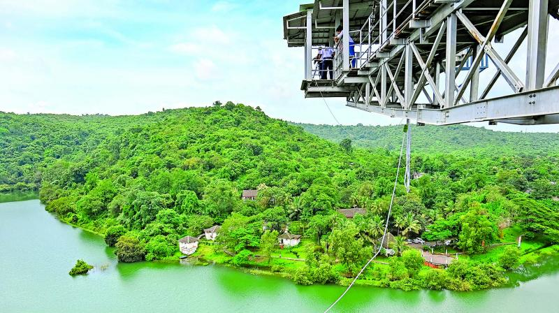 Bungee jumping is an activity that involves jumping from a formidable height while a cord is attached to your ankles.
