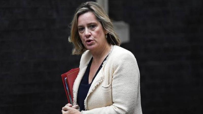 British Prime Minister Boris Johnson received a fresh blow Saturday when senior minister Amber Rudd quit her work and pensions post in protest at his handling of the Brexit crisis. (Photo: AP)
