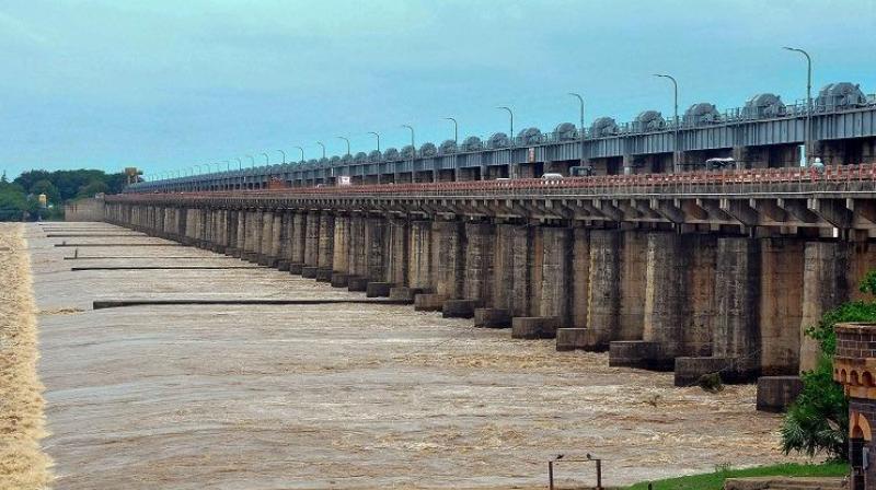 The Dowleswaram Barrage. (Photo: PTI)